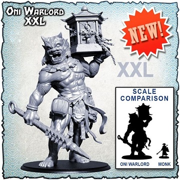 Shadows of Brimstone: XXL-Sized Deluxe Enemy Pack- Oni Warlord