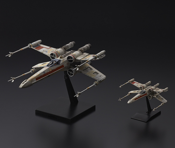 Star Wars Bandai Kit: 1/72 & 1/144 Red Squadron X-Wing Starfighter Special Set