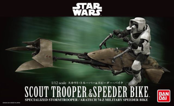 Star Wars Bandai Model Kit: 1/12 Scout Trooper & Speeder Bike