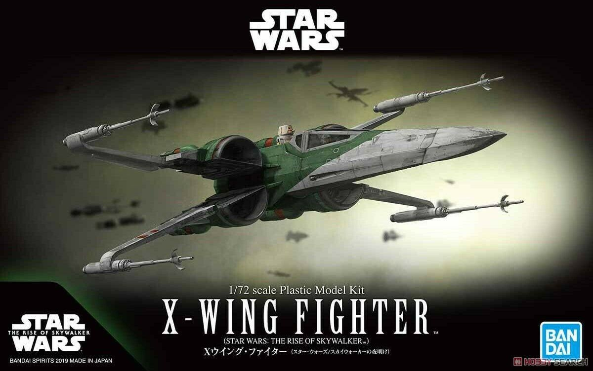 Star Wars Bandai Model Kit: 1/72 X-WING FIGHTER (STAR WARS: THE RISE OF SKYWALKER)