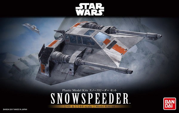 Star Wars Bandai Model Kit: Snowspeeder Set  (1/48 & 1/144)