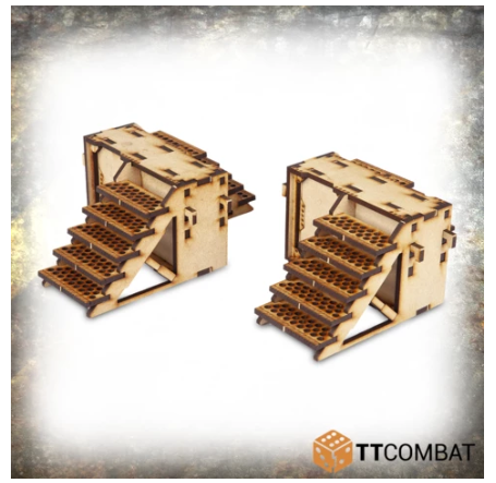 TT Combat Terrain: Industrial Hive- Iron Labyrinth Stairs