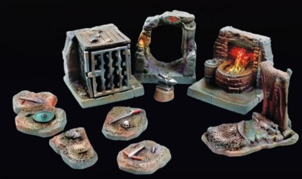 Tablescapes Realms: Caverns and Mines- Orc Warren Set