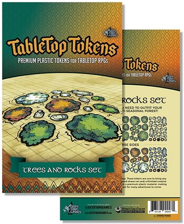 Tabletop Tokens: Trees and Rocks Set