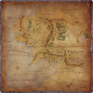 The Lord of the Rings- Journeys in Middle-Earth: Playmat