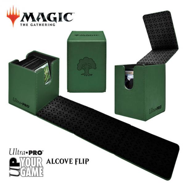 Ultra Pro Alcove Flip Box: Magic The Gathering- Forest (Green)