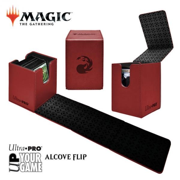 Ultra Pro Alcove Flip Box: Magic The Gathering- Mountain (Red)