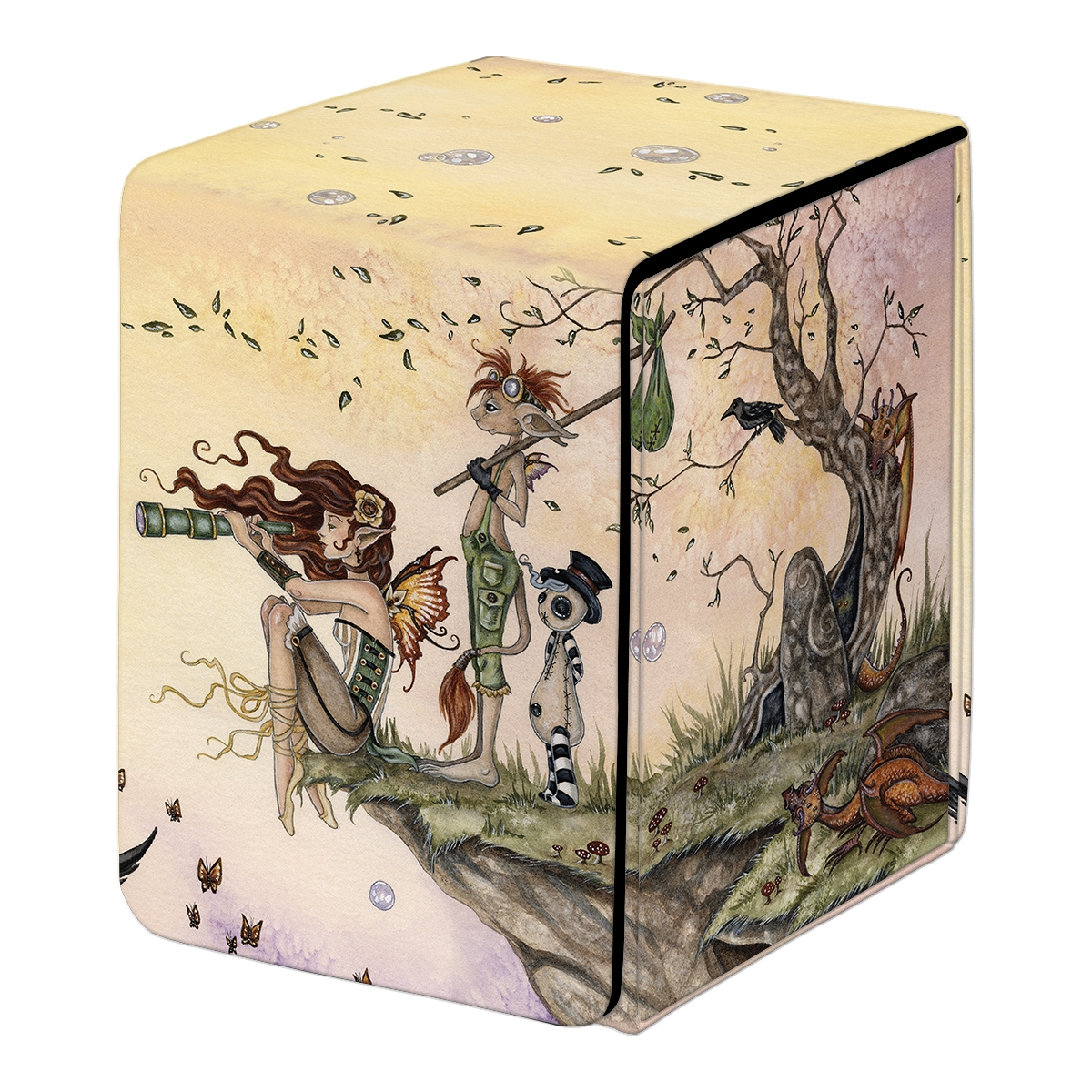 Ultra Pro: Alcove Flip Fine Art Deck Box- WHERE WIND TAKES YOU