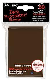Ultra Pro: Deck Protector Sleeves - Brown (50ct)