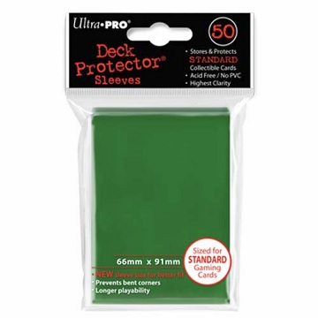Ultra Pro: Deck Protector Sleeves - Green (50ct)