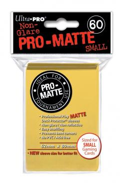 Ultra Pro: Non-Glare Pro-Matte Small Sleeves (60): Yellow