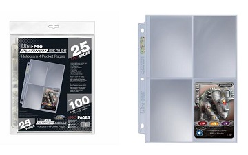 Ultra Pro: Premium Series 4-Pocket Pages (25ct)