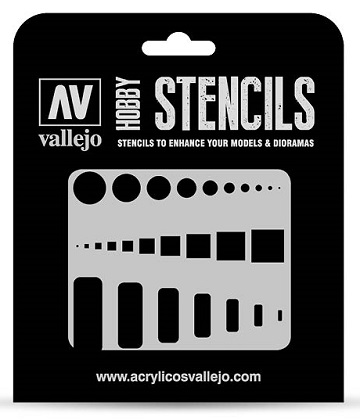 Vallejo Hobby Stencils: ACCESS TRAP DOORS