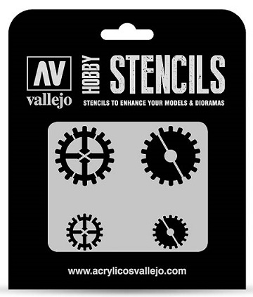 Vallejo Hobby Stencils: GEAR MARKINGS