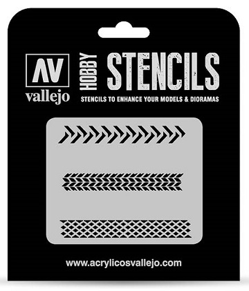 Vallejo Hobby Stencils: TYRE MARKINGS