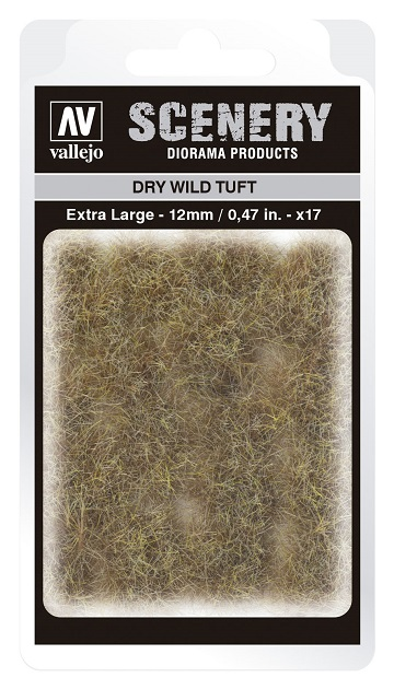 Vallejo Scenery Diorama Products: DRY WILD TUFT (Extra Large 12mm)
