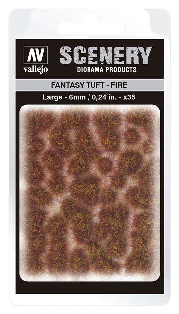 Vallejo Scenery Diorama Products: FANTASY TUFT- FIRE (Large 6mm)