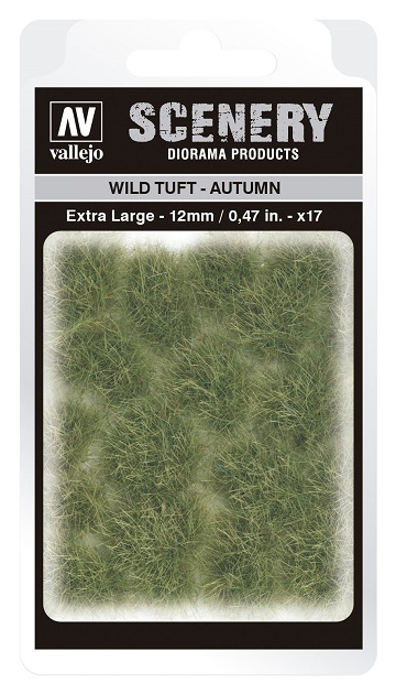 Vallejo Scenery Diorama Products: WILD TUFT- AUTUMN (Extra Large 12mm)