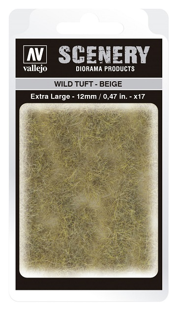 Vallejo Scenery Diorama Products: WILD TUFT- BEIGE (Extra Large 12mm)