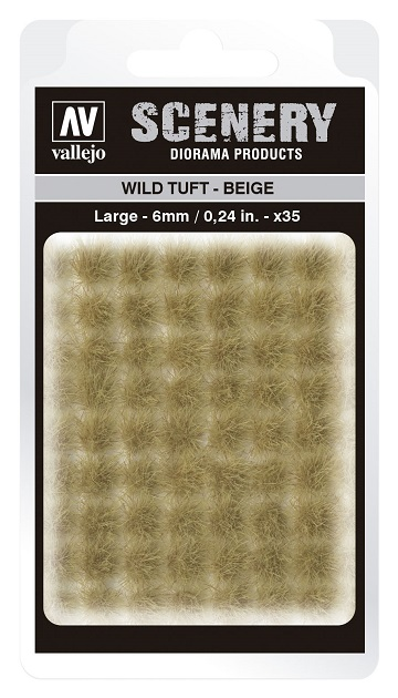 Vallejo Scenery Diorama Products: WILD TUFT- BEIGE (Large 6mm)