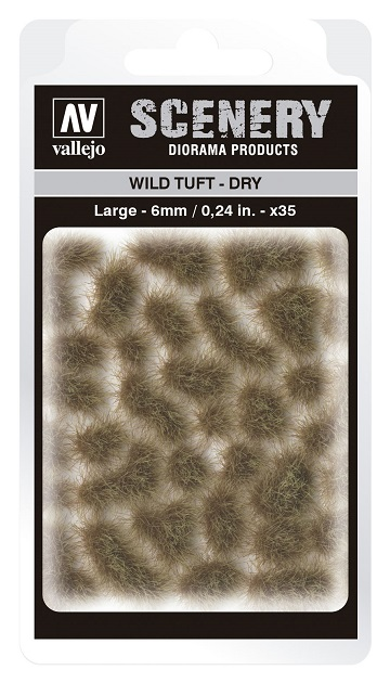 Vallejo Scenery Diorama Products: WILD TUFT- DRY (Large 6mm)