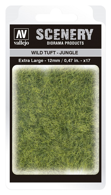 Vallejo Scenery Diorama Products: WILD TUFT- JUNGLE (Extra Large 12mm)