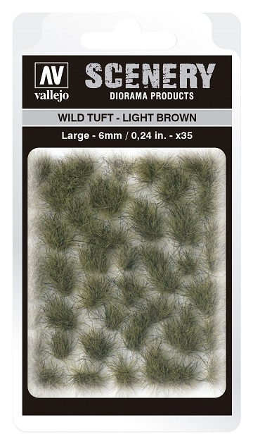 Vallejo Scenery Diorama Products: WILD TUFT- LIGHT BROWN (Large 6mm)