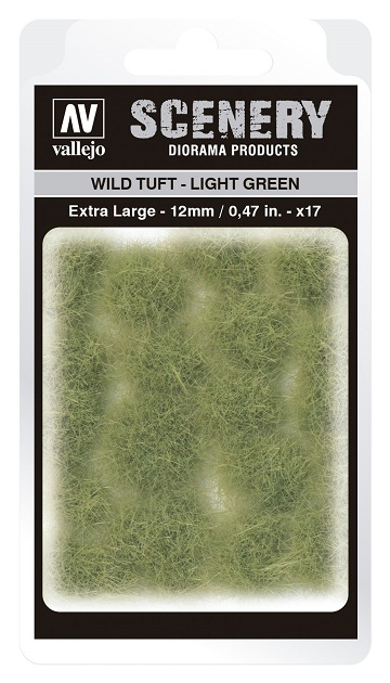 Vallejo Scenery Diorama Products: WILD TUFT- LIGHT GREEN (Extra Large 12mm)