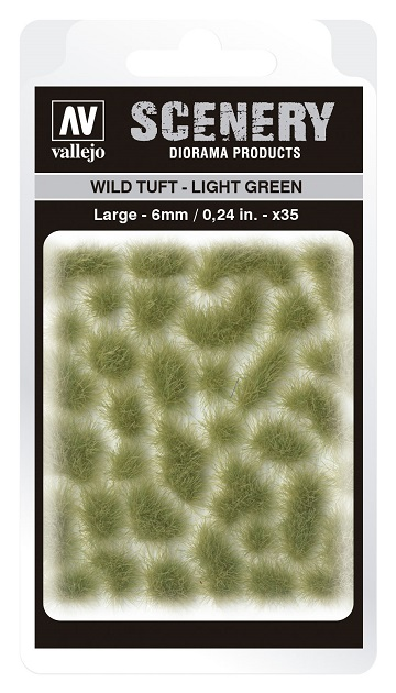 Vallejo Scenery Diorama Products: WILD TUFT- LIGHT GREEN (Large 6mm)