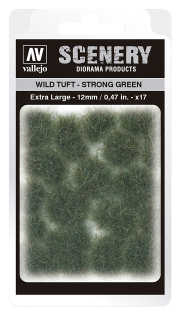 Vallejo Scenery Diorama Products: WILD TUFT- STRONG GREEN (Extra Large 12mm)