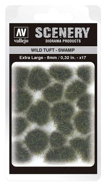 Vallejo Scenery Diorama Products: WILD TUFT- SWAMP (Extra Large 8mm)