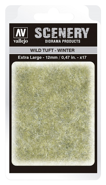 Vallejo Scenery Diorama Products: WILD TUFT- WINTER (Extra Large 12mm)