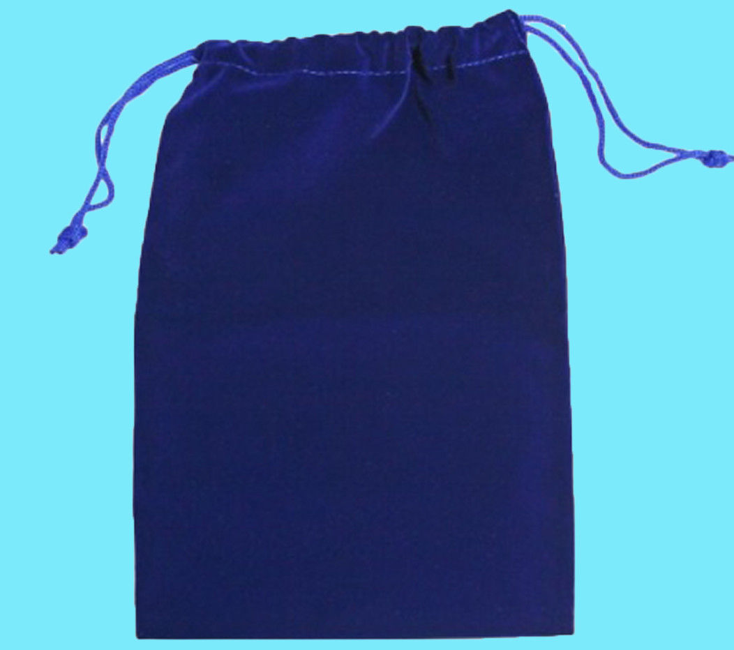 "Velvet Dice Bag (6x9""): Blue"