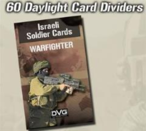Warfighter Modern: Israeli Soldier Cards -Daylight Card Dividers
