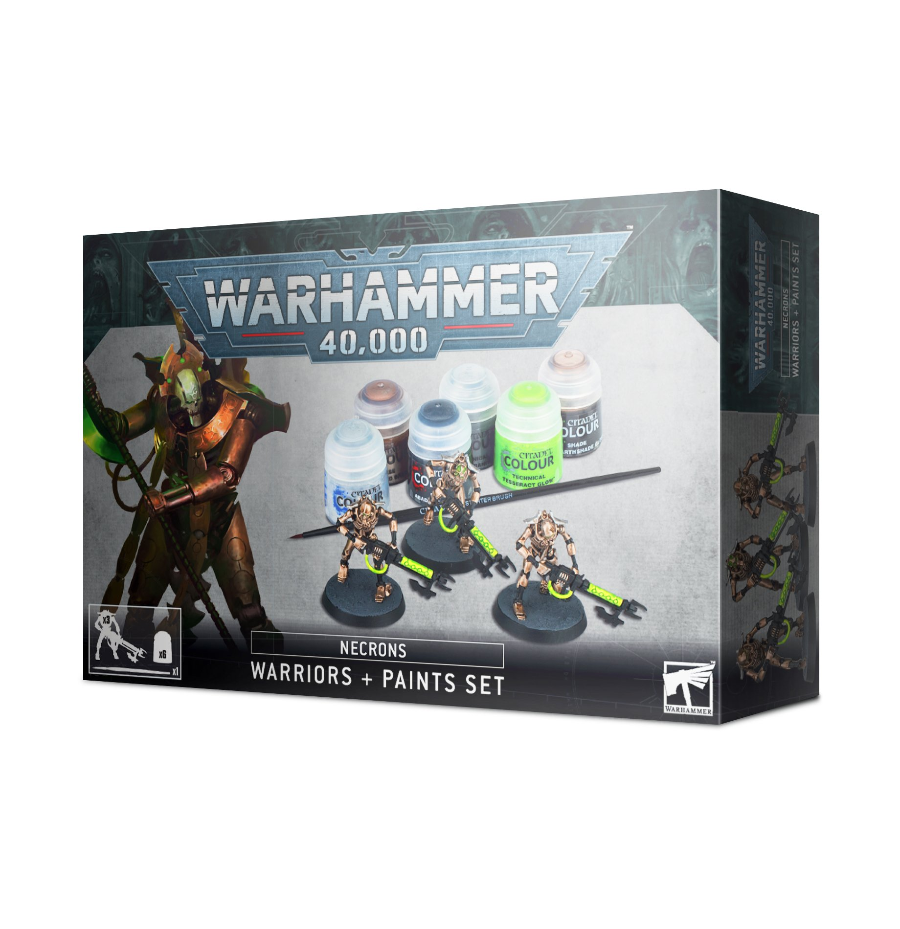 Warhammer 40,000: Necrons Warriors and Paint Set