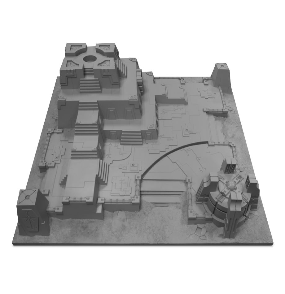 Warhammer 40,000: Realm of Battle Board - Necron Tomb Citadel