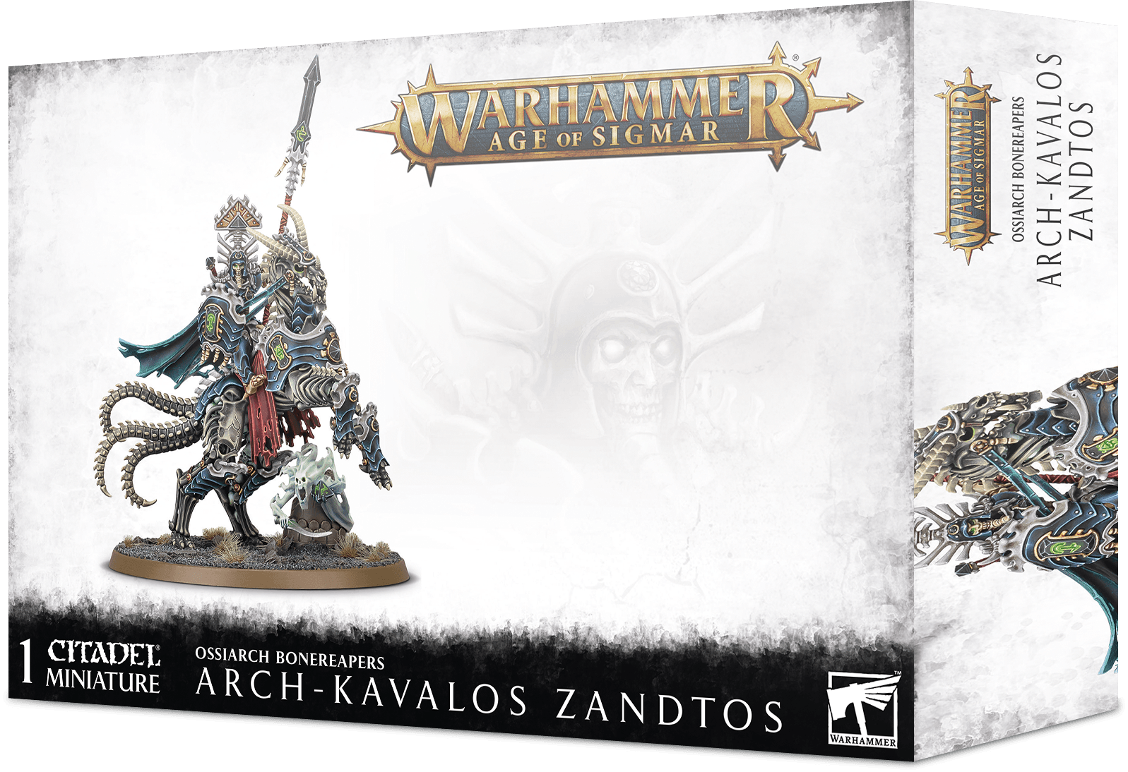 Warhammer Age Of Sigmar: Ossiarch Bonereapers: Arch-Kavalos Zandtos Dark Lance Of Ossia
