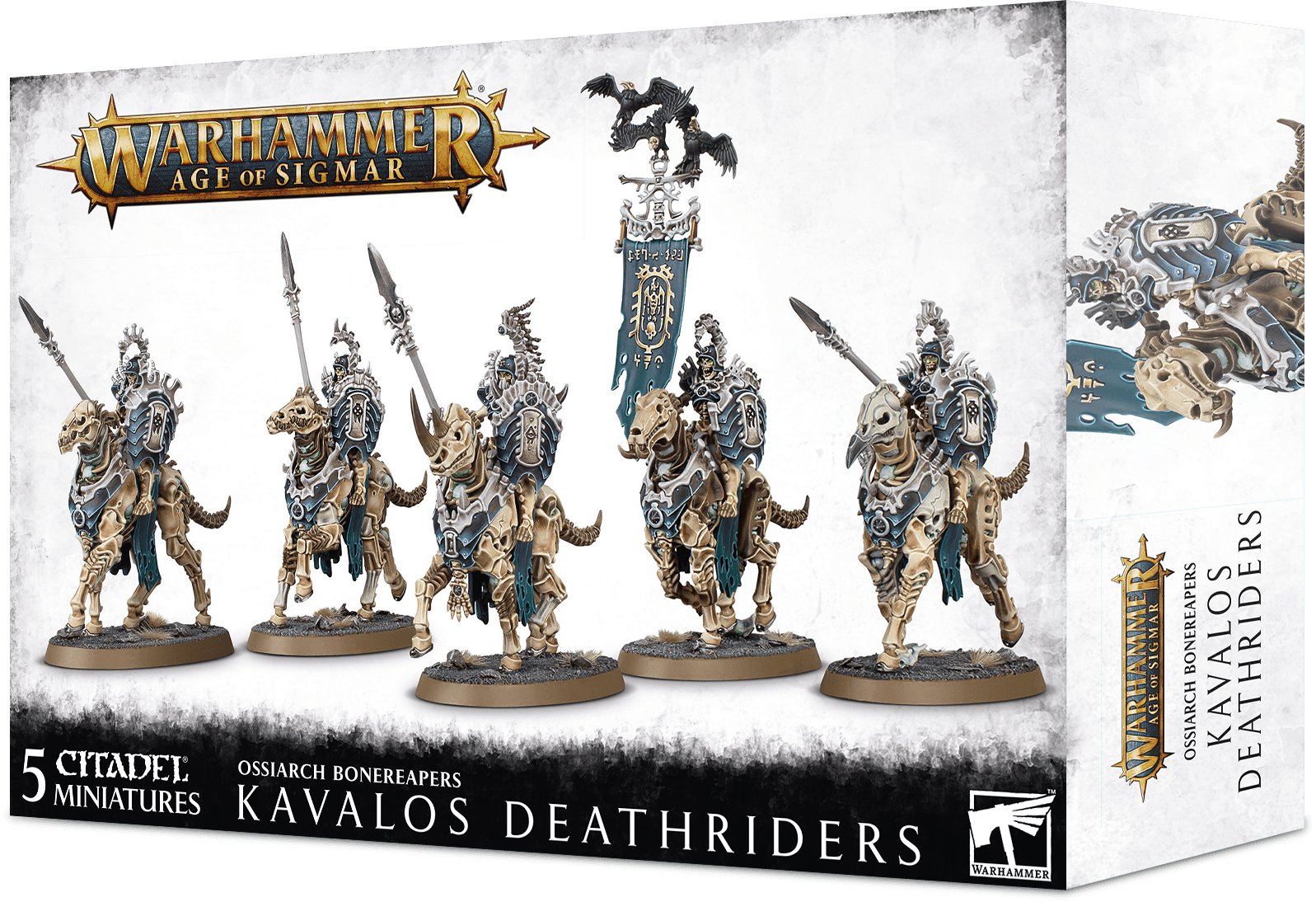 Warhammer Age Of Sigmar: Ossiarch Bonereapers: Kavalos Deathriders