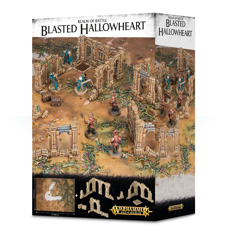 Warhammer Age of Sigmar: Terrain: Realm of Battle: Blasted Hallowheart