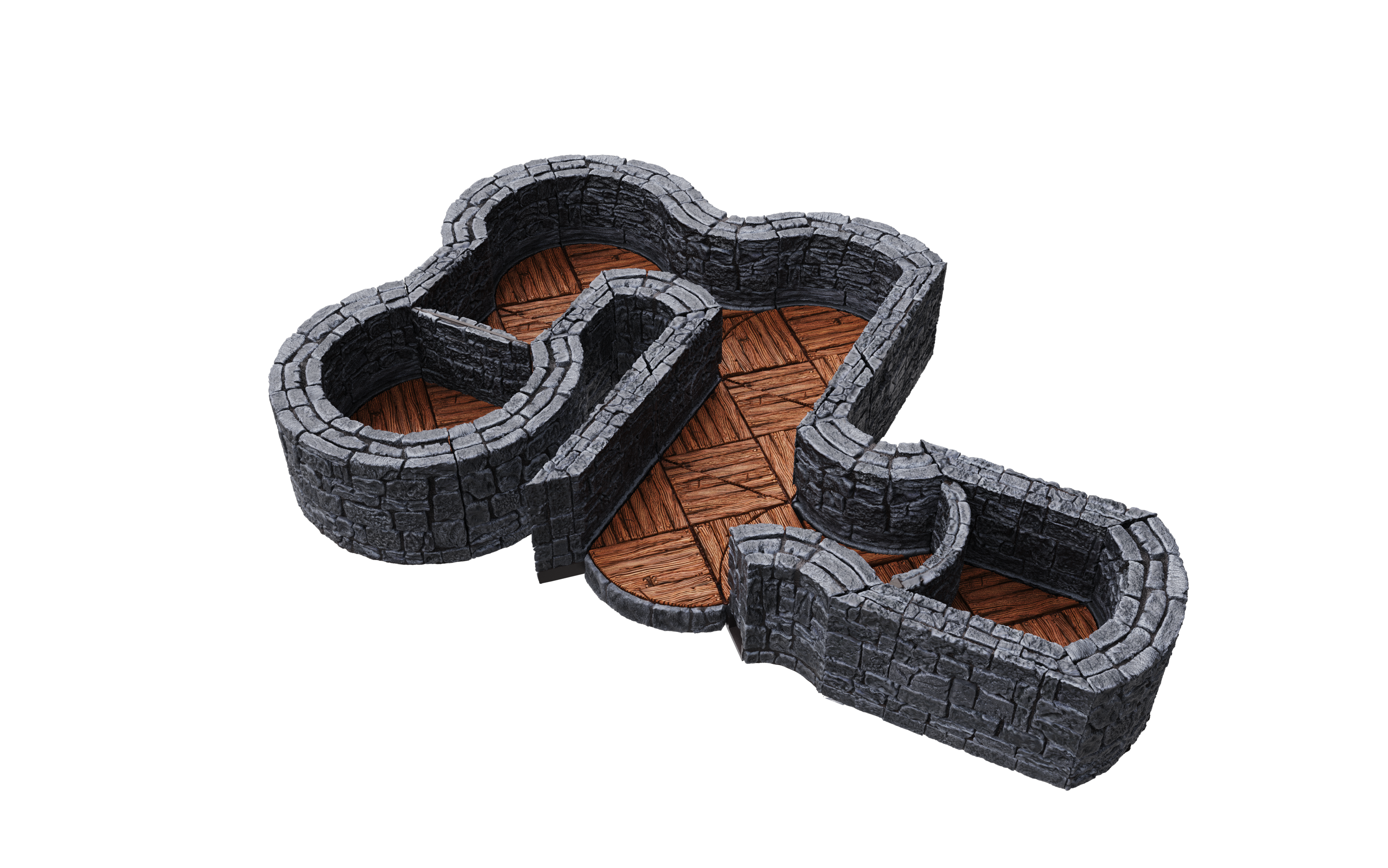 "Warlock Tiles: Dungeon Tiles- 1"" Angles and Curves Expansion"