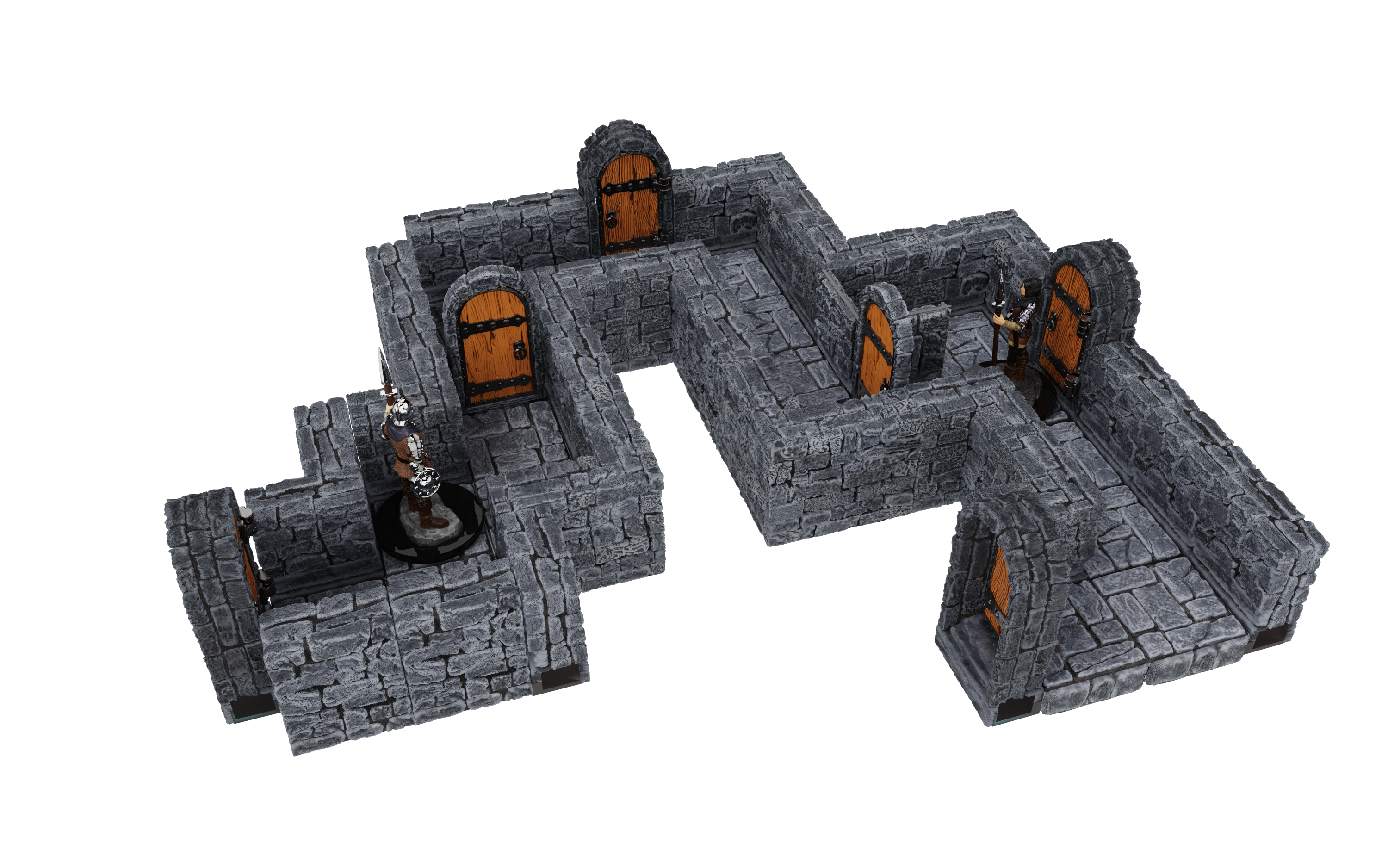"Warlock Tiles: Dungeon Tiles- 1"" Straight Walls Expansion"