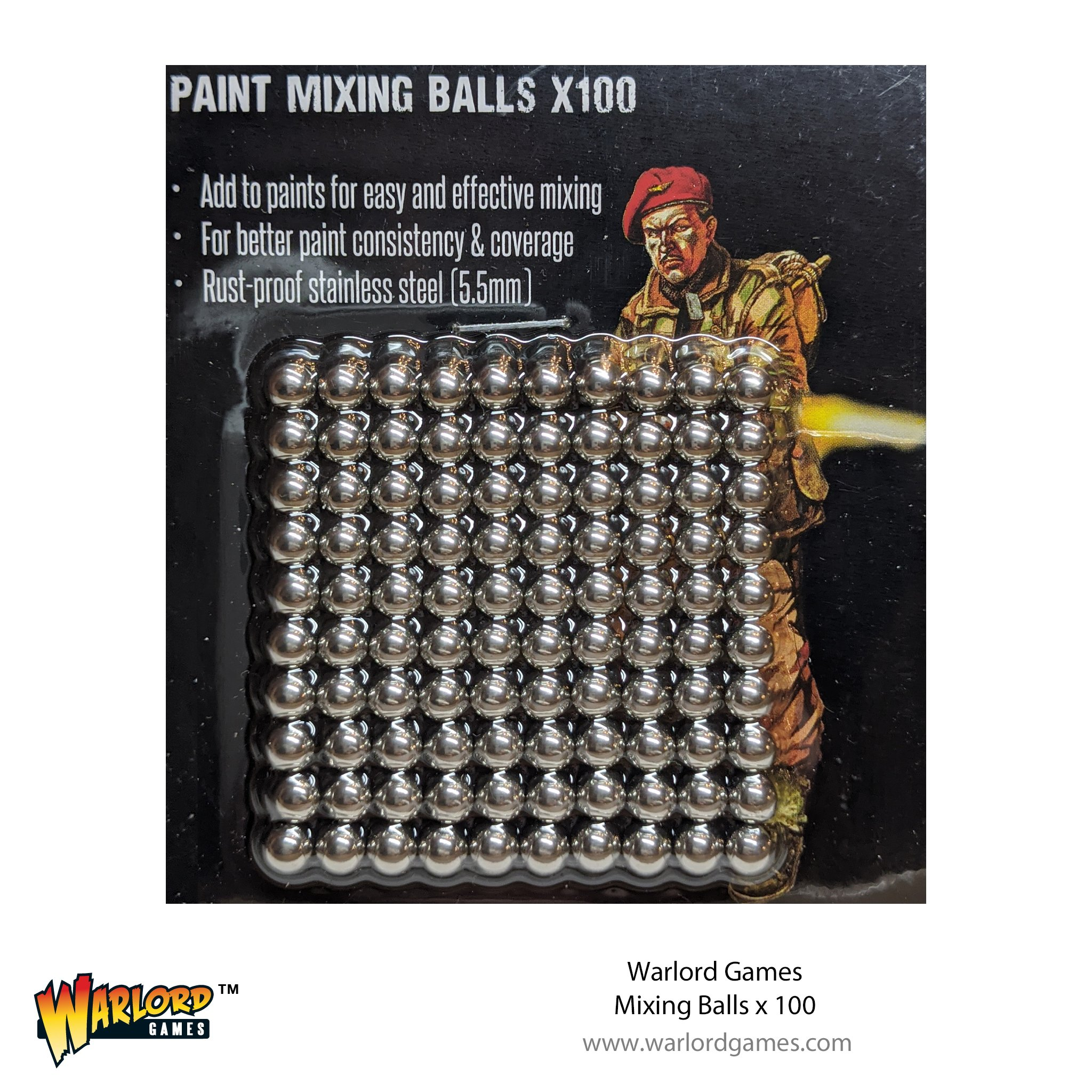 Warlord Games: Paint Mixing Balls (100)