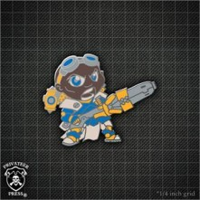 Warmachine: Chibi Major Siege Brisbane Pin