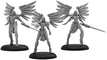 Warmachine: Convergence of Cyriss (36035): Negation Angels Unit Blister