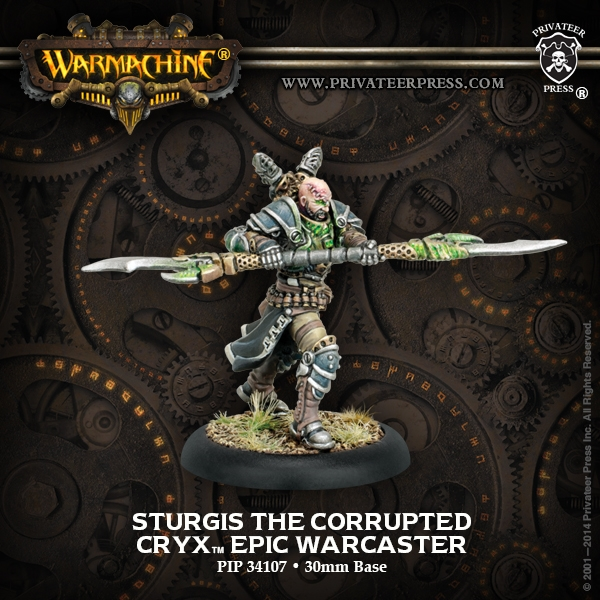 Warmachine: Cryx (34107): Sturgis the Corrupted Epic Warcaster [SALE]