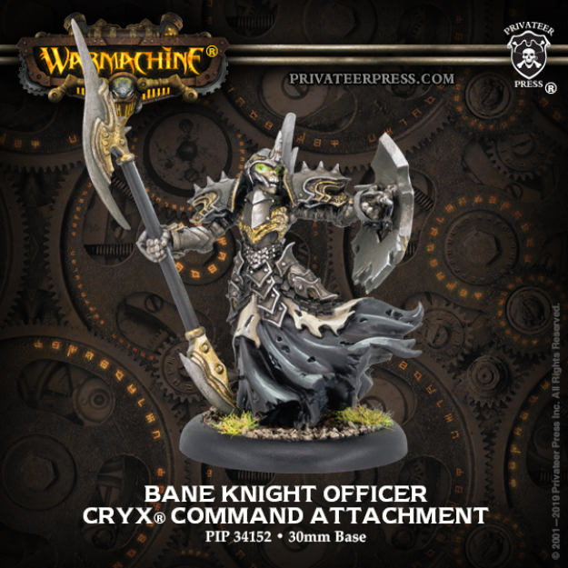 Warmachine: Cryx (34152): Bane Knight Officer Command Attachment
