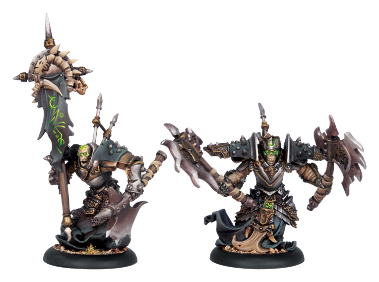 Warmachine: Cryx (34071): Bane Thrall Officer & Standard Bearer [SALE]