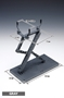 Wave POSING ARM (BLACK): Display Stand with Versatile Claws for Various Model Subjects - WAVE-HH024 [4943209340248]