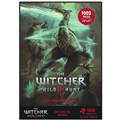 Witcher 3: PUZZLE 1000PC CIRI & THE WOLVES