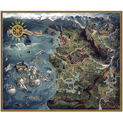 Witcher 3: PUZZLE 1000PC WORLD MAP